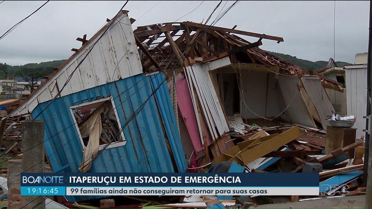 Meteorologistas confirmam a ocorrência de um tornado em Itaperuçu