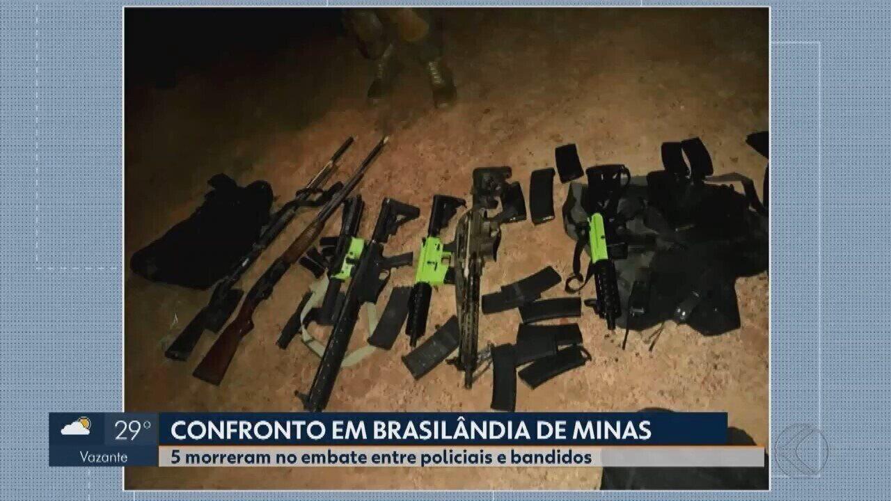 Confronto entre policiais e quadrilha criminosa acaba em mortes em Brasilândia de Minas