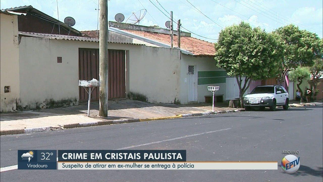 Suspeito de tentar matar a ex-mulher a tiros se entrega à polícia em Cristais Paulista, SP