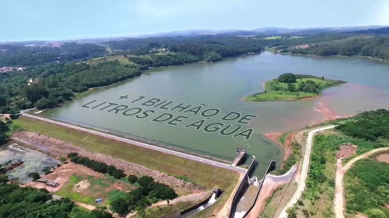 Jundiaí amplia em 1 bilhão de litros a reservação de água