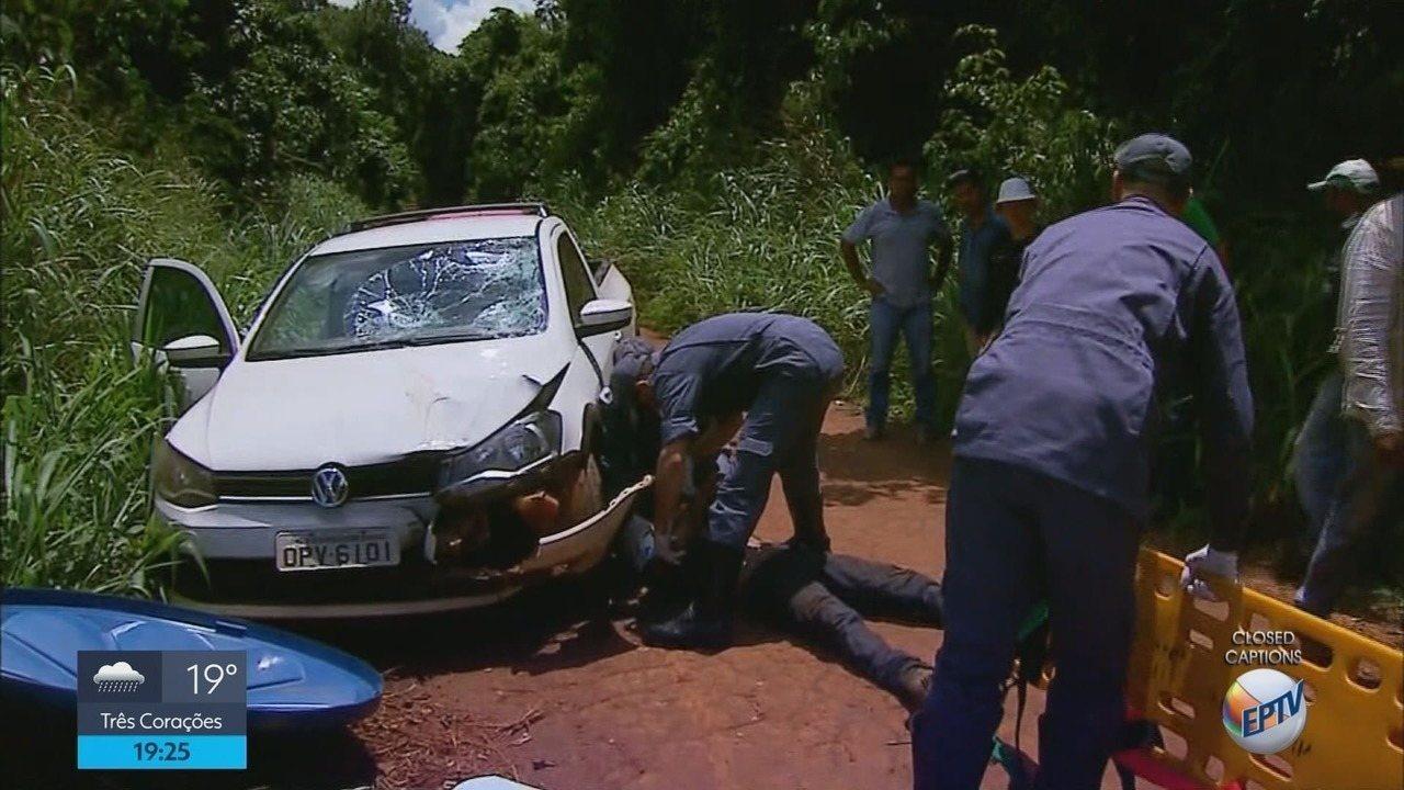 Motociclista fica ferido em acidente com carro em São Tomás de Aquino