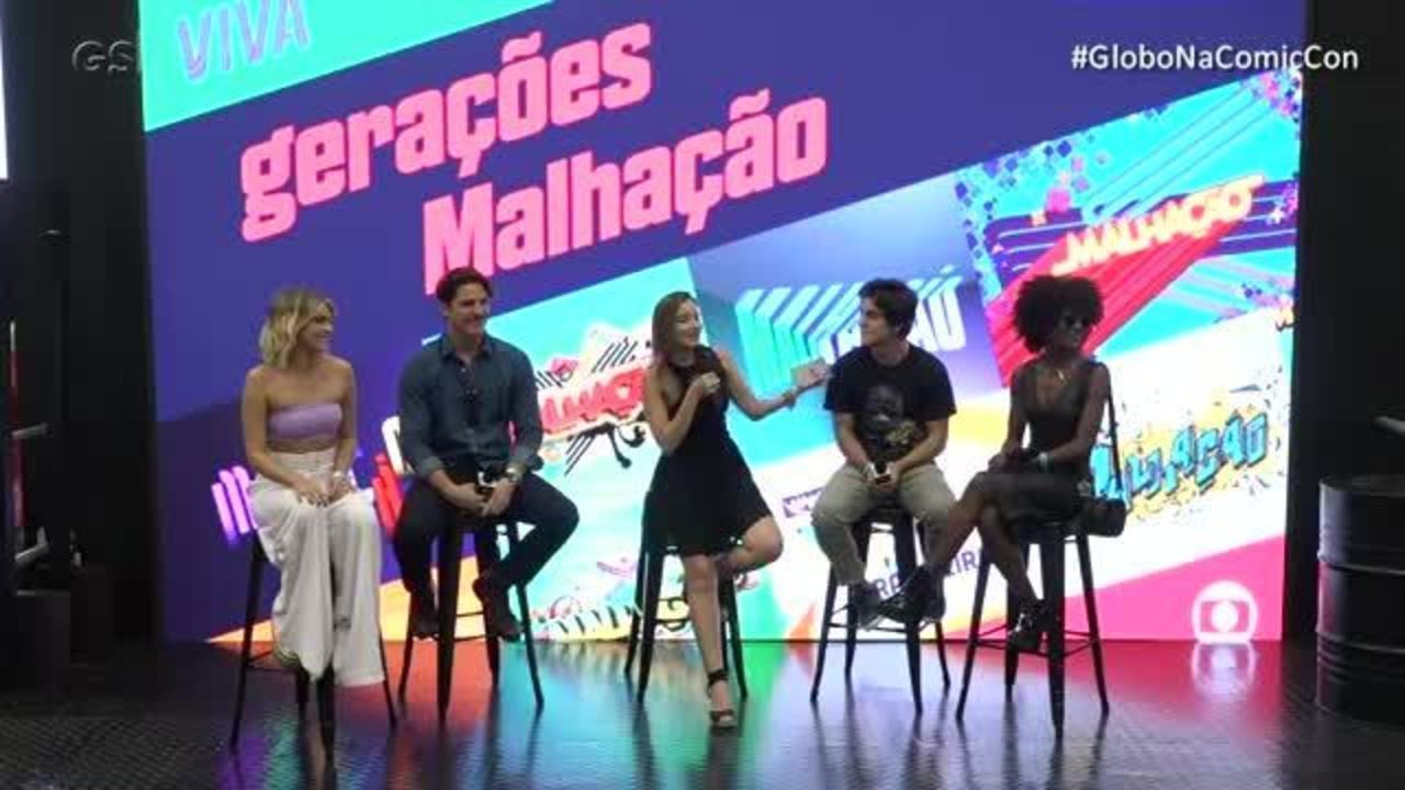 Elenco de 'Malhação' conversa no estande da Comic Con Experience 2018