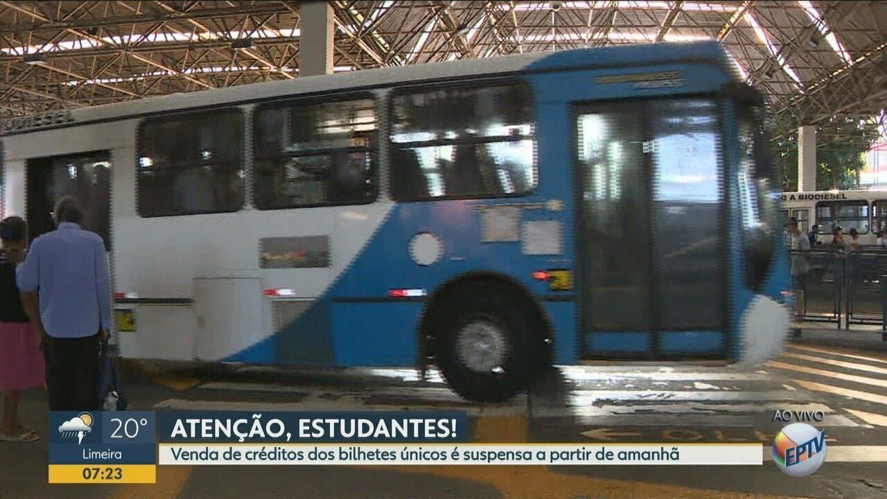 Cadastro do Bilhete Único Escolar e Universitário será suspenso em Campinas