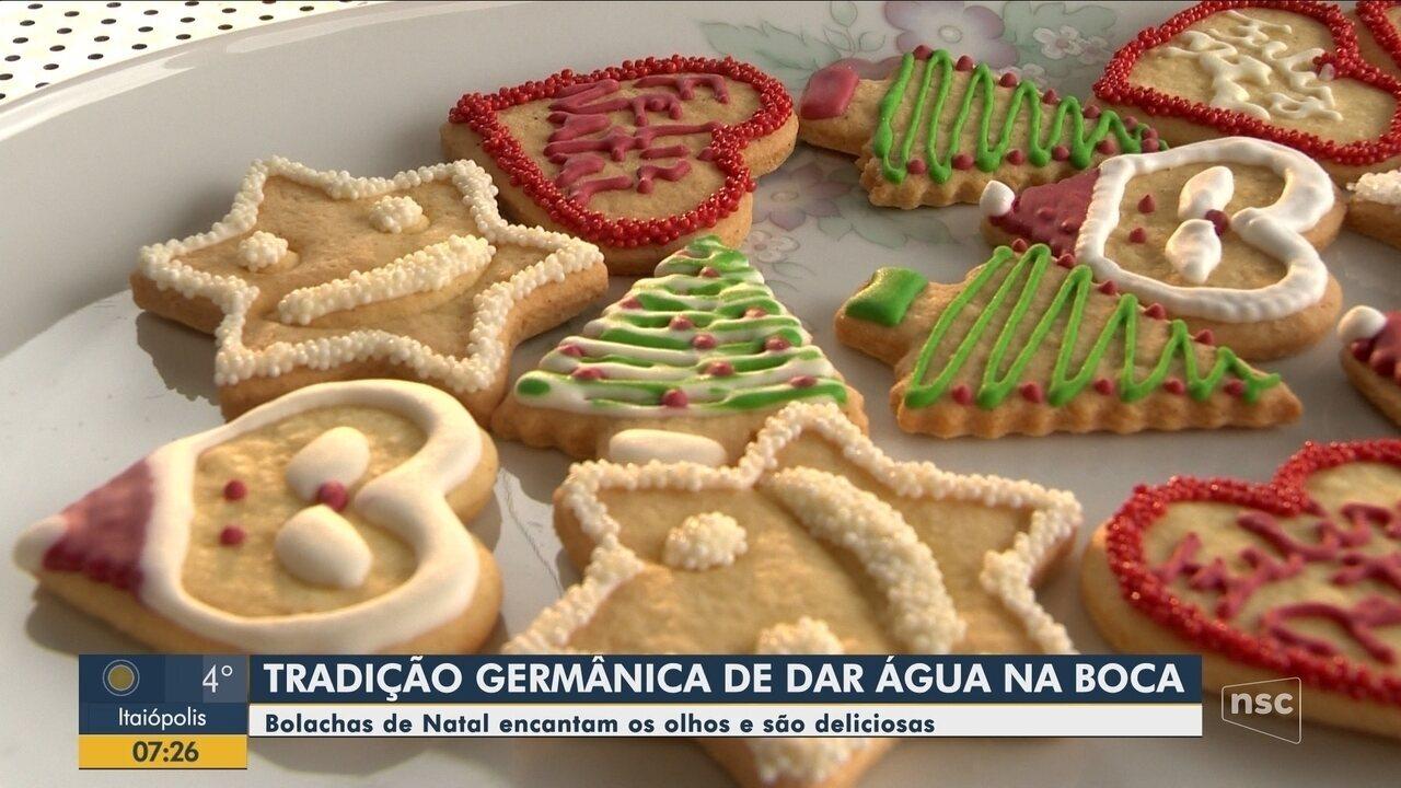 Bolachas decoradas de Natal são tradição entre famílias de SC