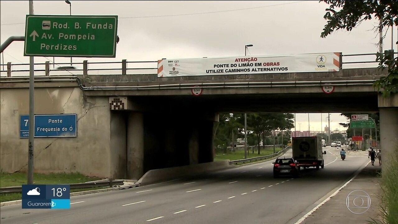 Prefeitura da capital vai vistoriar 33 viadutos e pontes