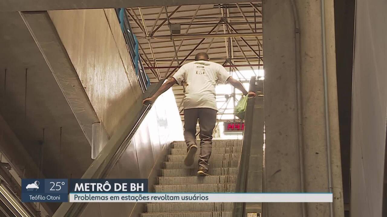 Usuários do metrô enfrentam problemas em estações de Belo Horizonte