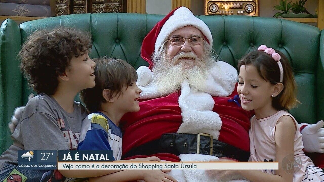 Confira a decoração de Natal do Shopping Santa Úrsula em Ribeirão Preto
