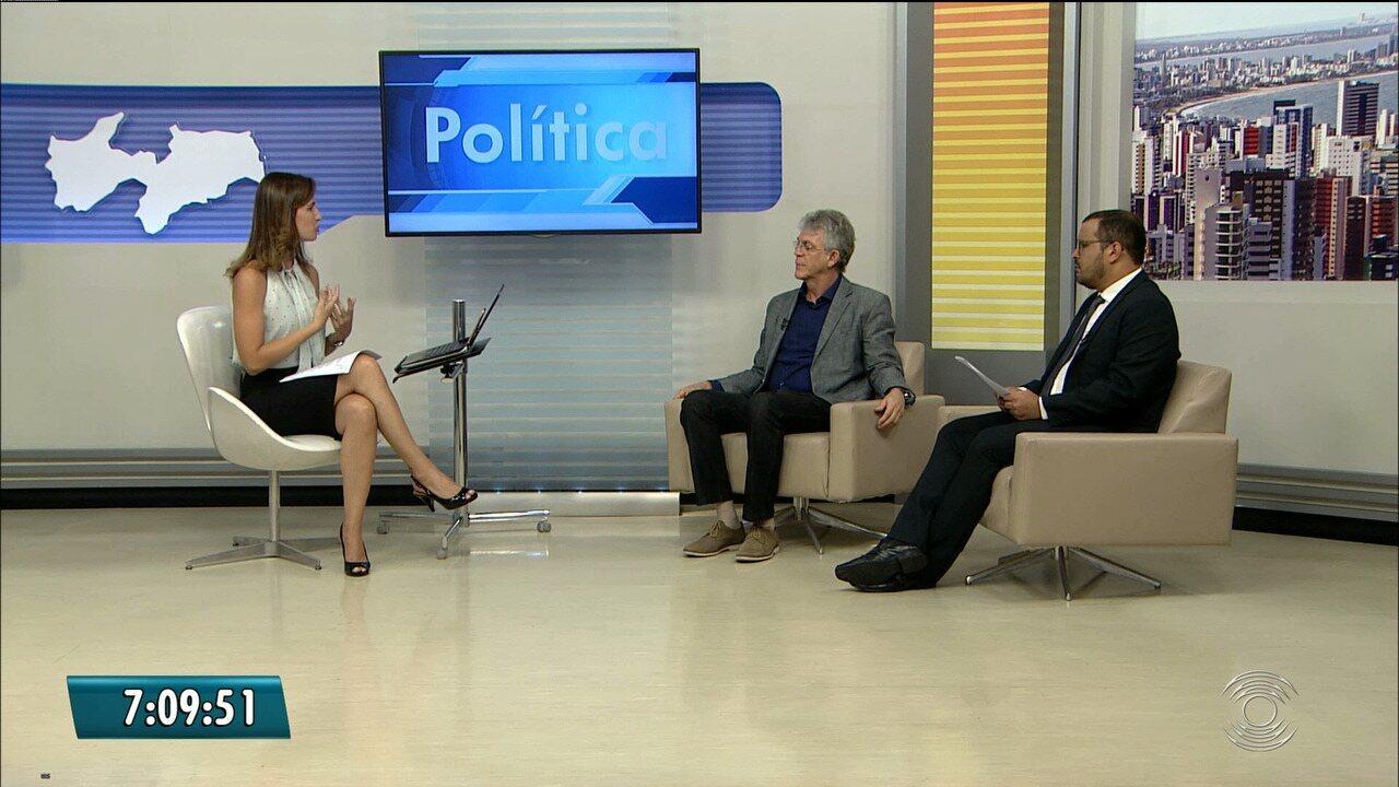 Governador Ricardo Coutinho é entrevistado no Bom Dia Paraíba