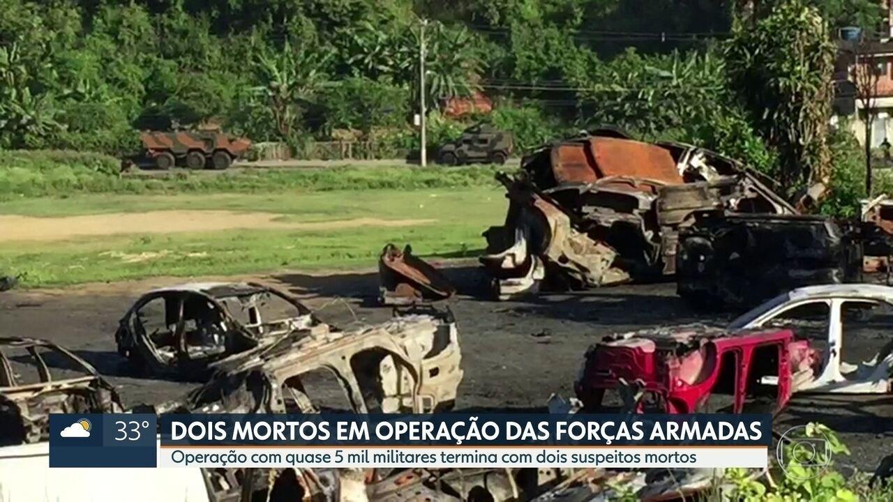 Resultado de imagem para Dois suspeitos são mortos em confronto com o Exército, em operação das Forças Armadas