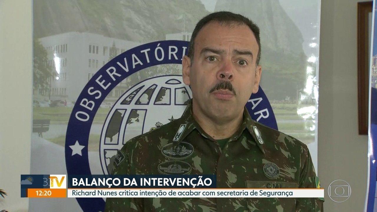 General Richard Nunes critica extinção de secretaria de Segurança