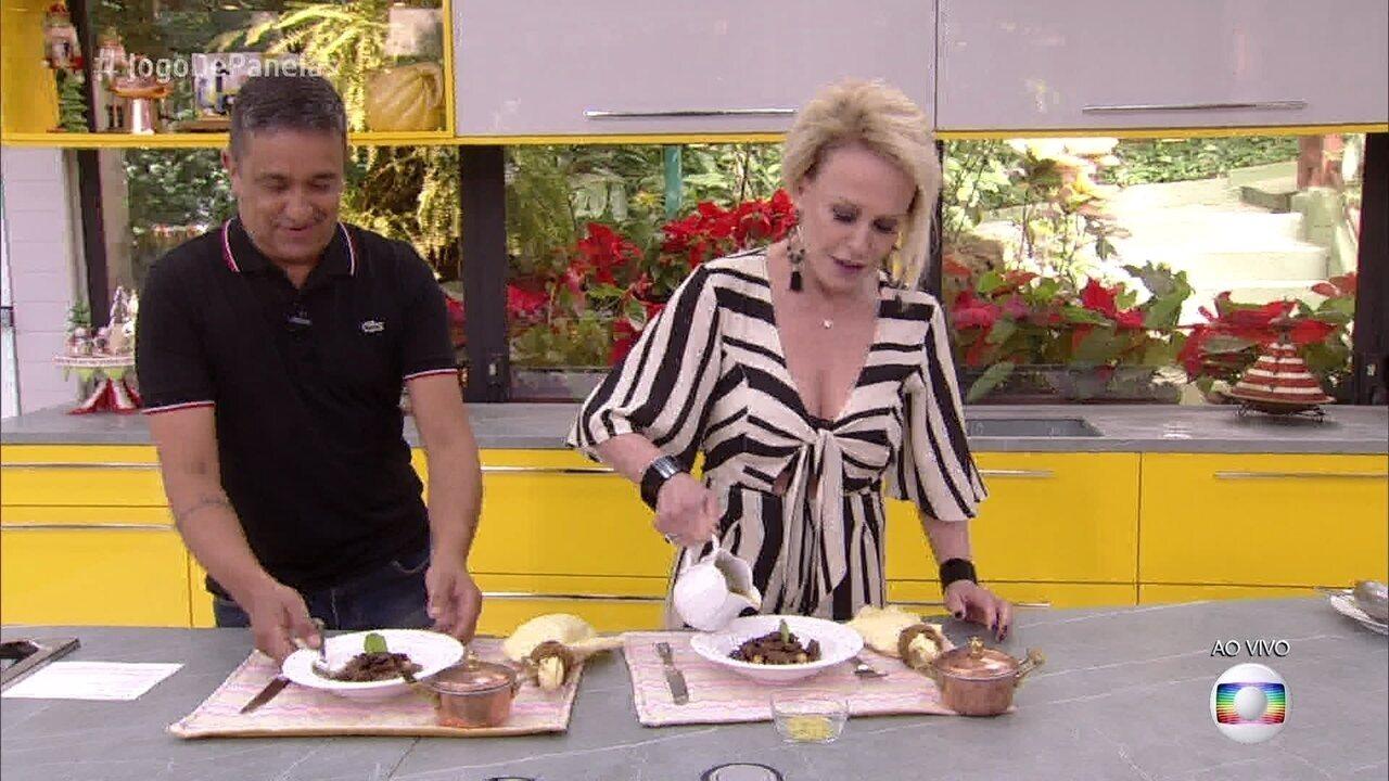 Ana Maria Braga experimenta prato principal de Luciano