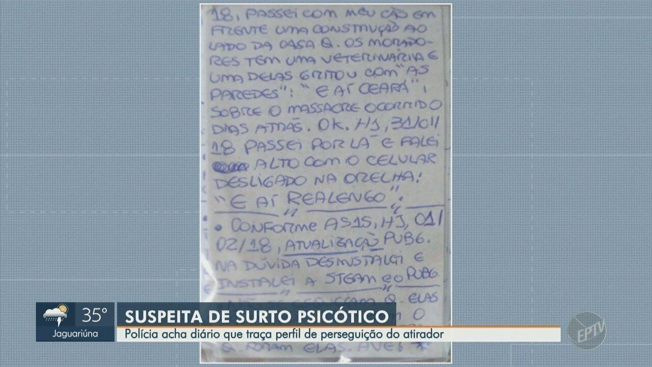 Polícia Civil acha diário que traça perfil do atirador da Catedral de Campinas
