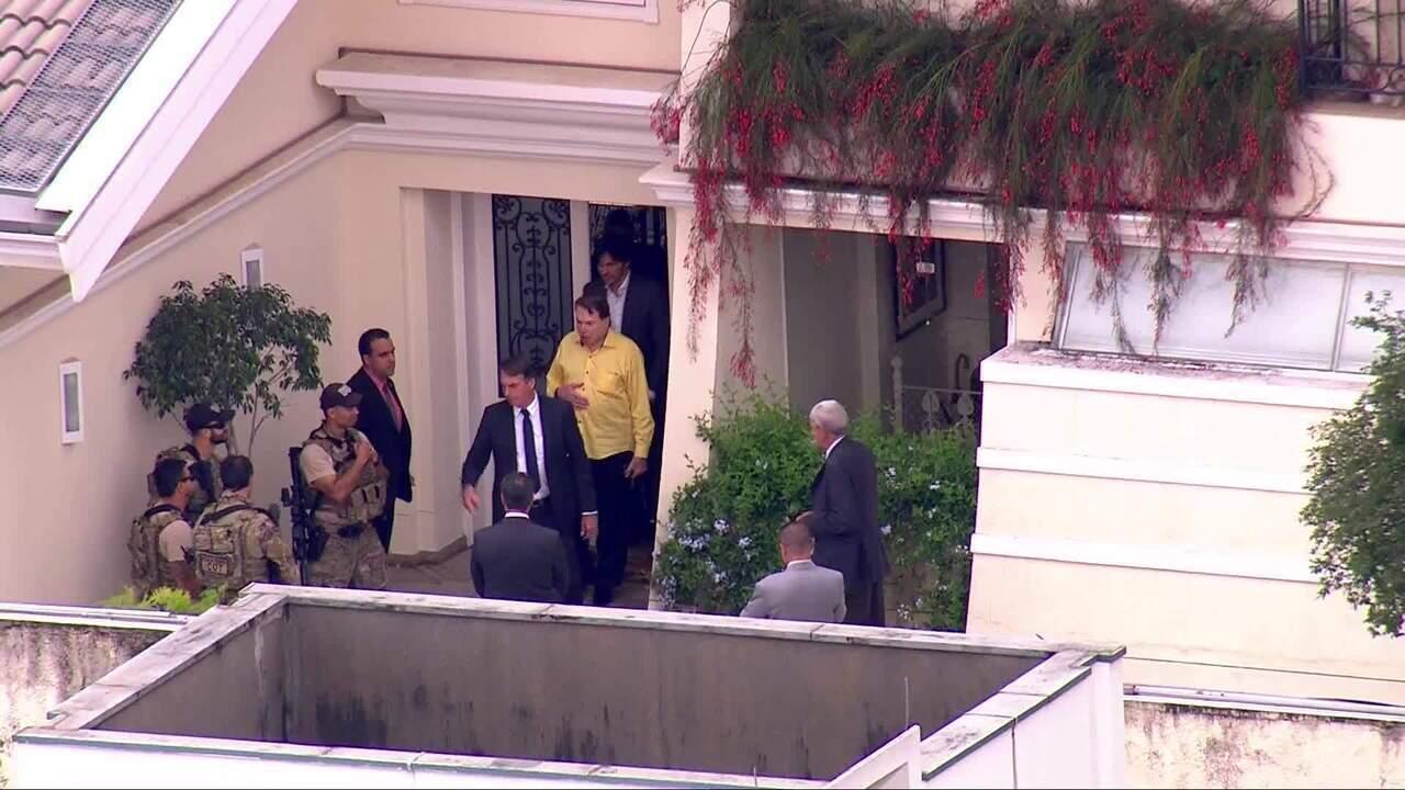 Bolsonaro almoça na casa de Silvio Santos em São Paulo