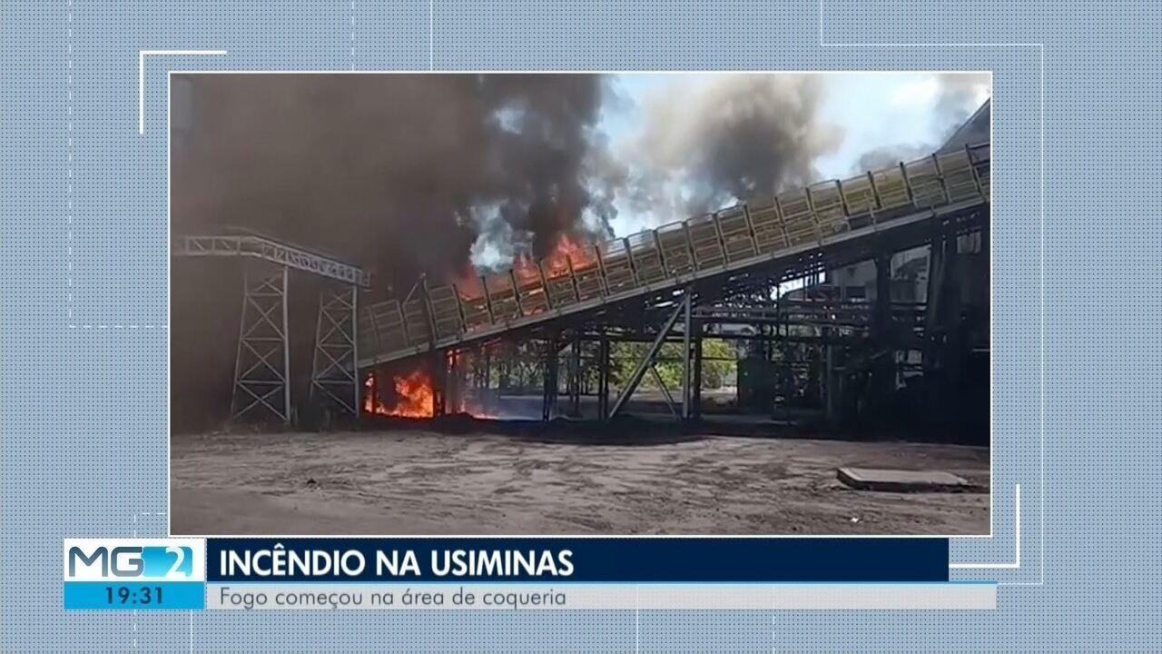 Princípio de incêndio é registrado na Usiminas