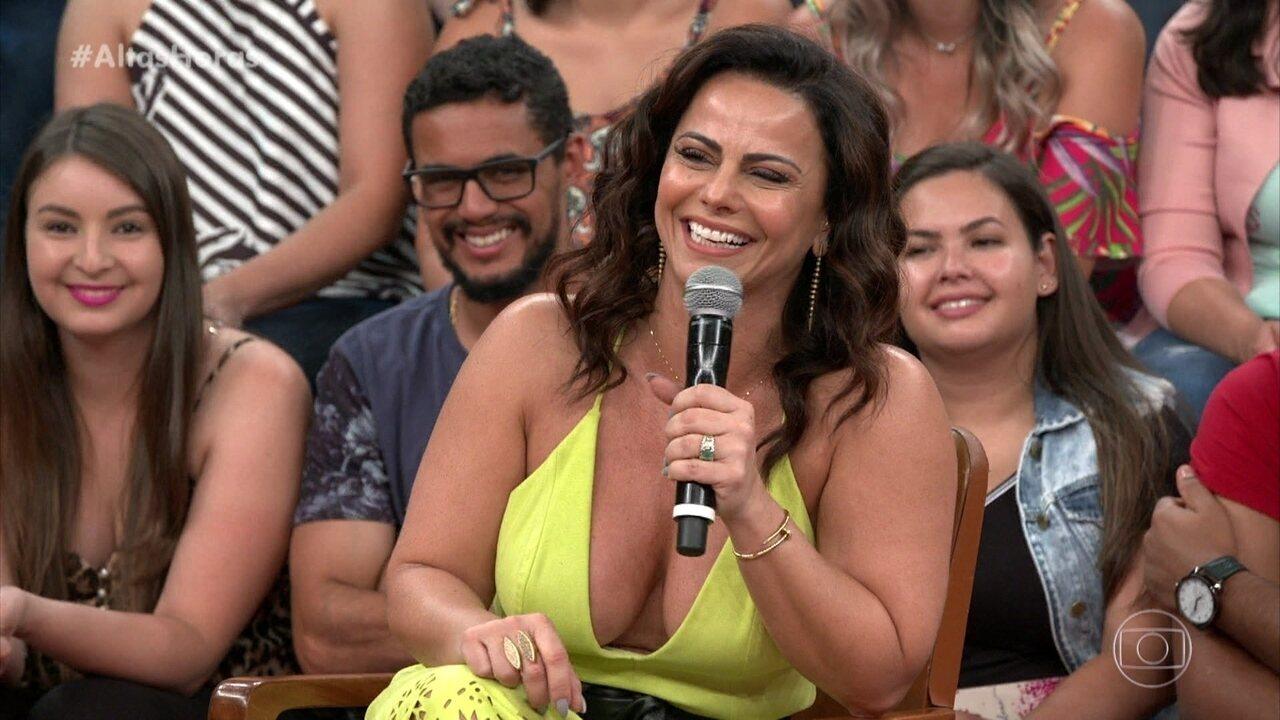 Viviane Araújo diz que tem facilidade para decorar textos