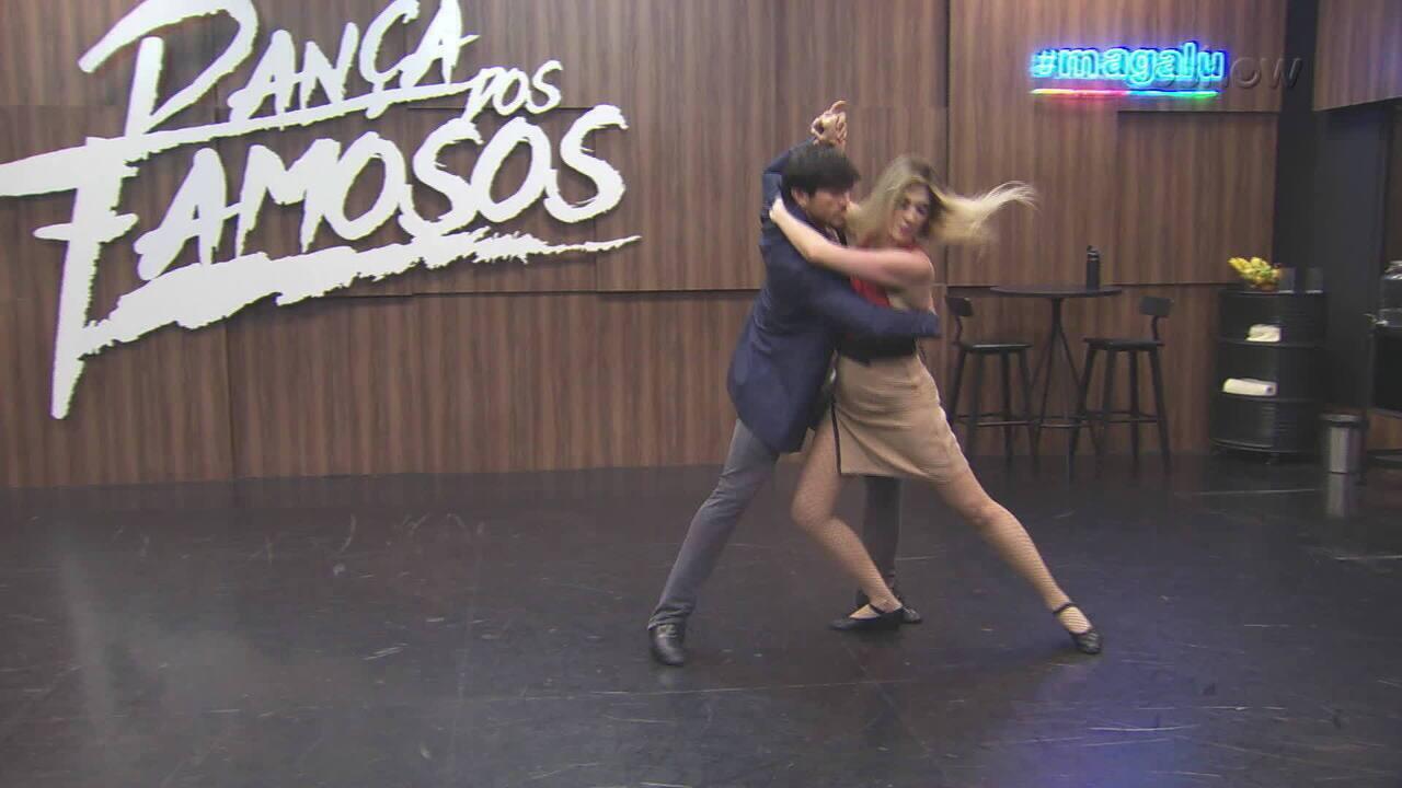 Confira ensaio da Dani Calabresa para final do 'Dança dos Famosos'