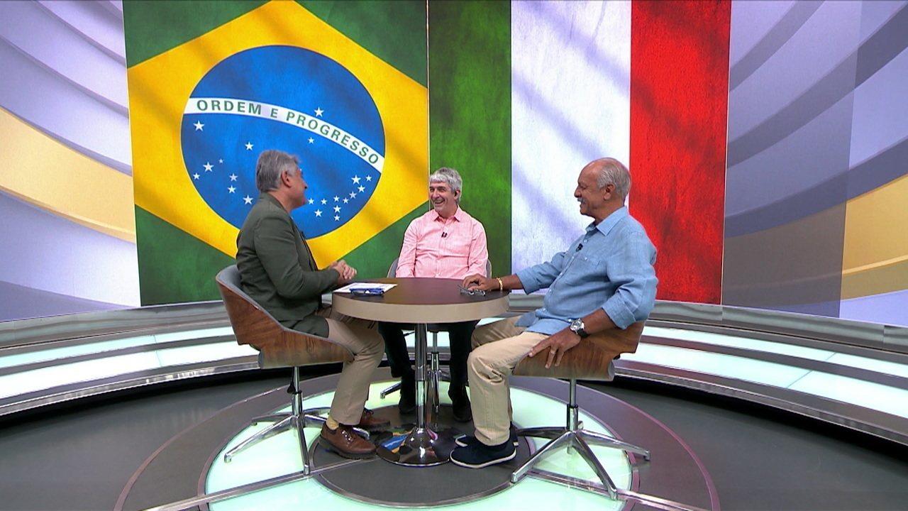 """Paolo Rossi relembra a Copa de 1982 e papo com Cléber Machado e Júnior no """"2 x 1"""""""