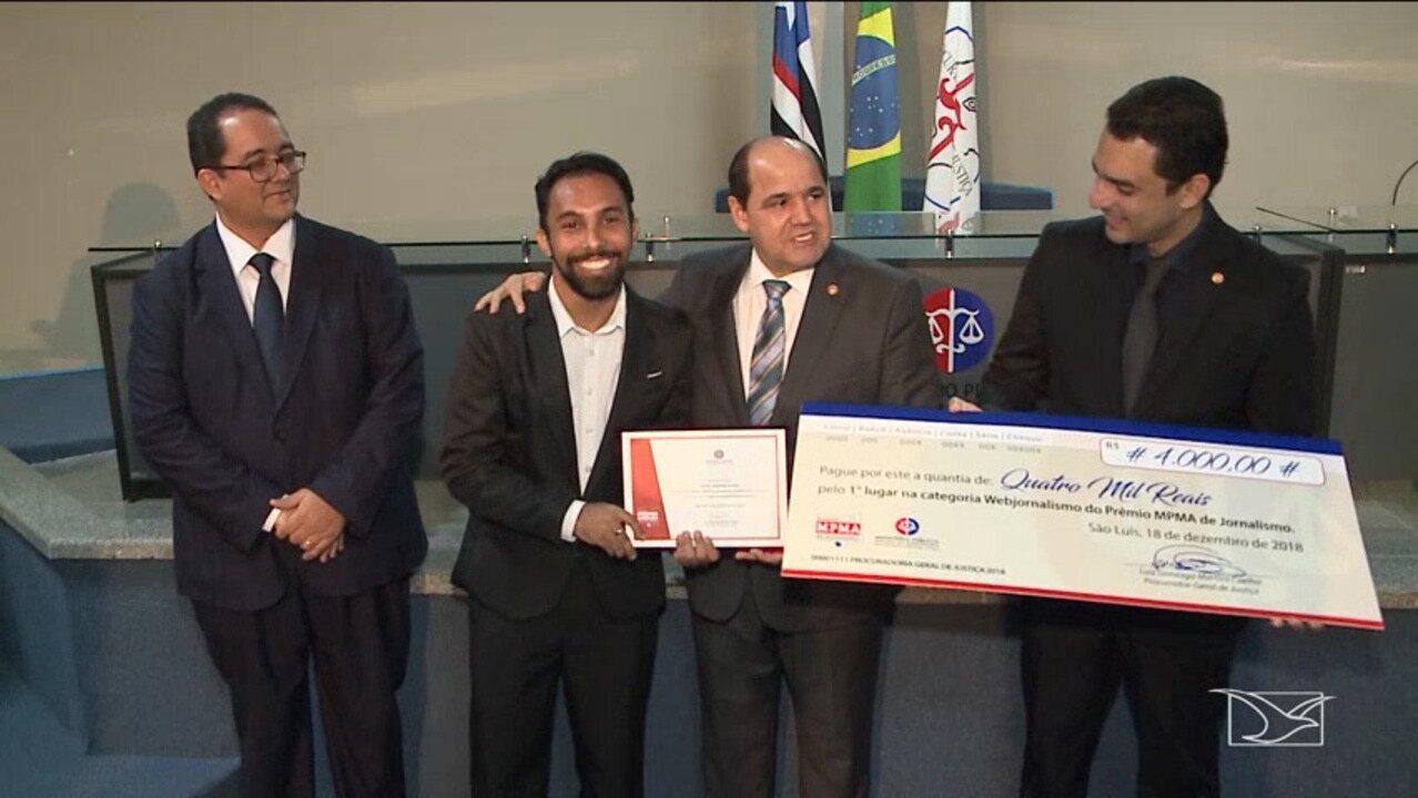 G1 Maranhão é premiado pelo Ministério Público