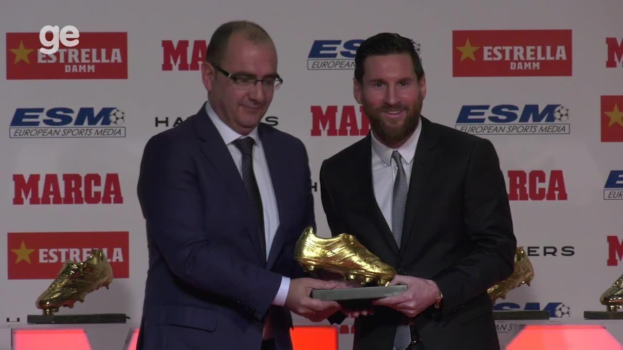 Messi recebe quinta Chuteira de Ouro 5e655fa772099
