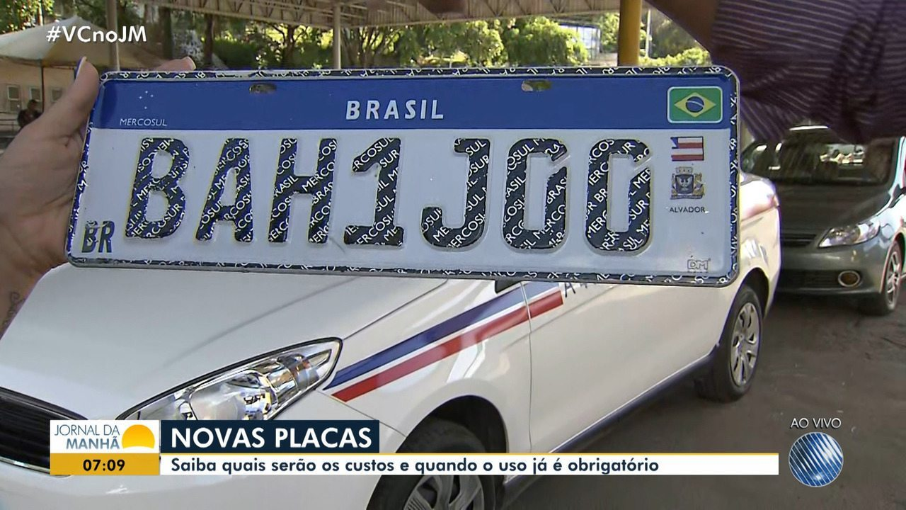 Novas placas do Mercosul começam a valer a partir do dia 26 no estado