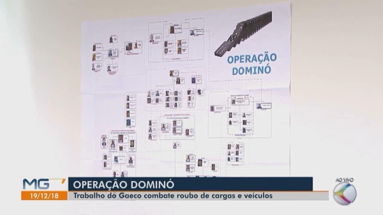 Gaeco realiza Operação 'Dominó' de combate a roubo e receptação de cargas em Uberlândia