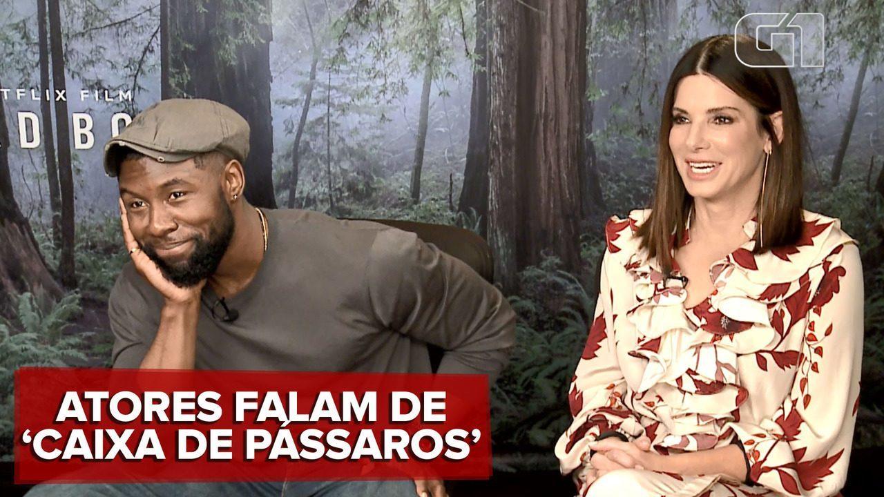 Trevante Rhodes e Sandra Bullock falam sobre o filme 'Caixa de pássaros'