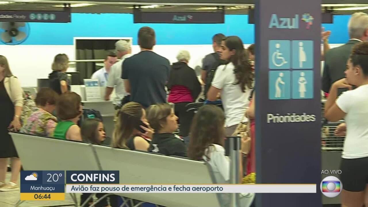 Aeroporto Internacional de BH está fechado por causa de pouco forçado