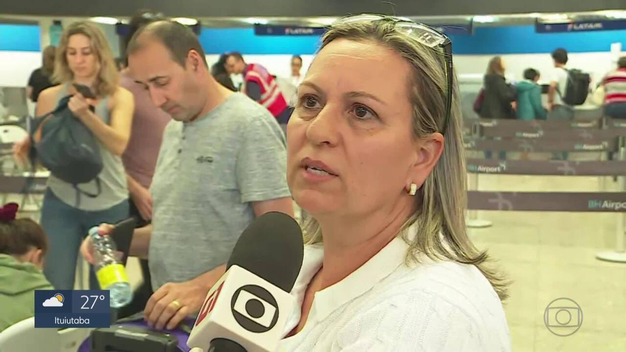 Passageira relata momento do pouso forçado no Aeroporto Internacional de Belo Horizonte