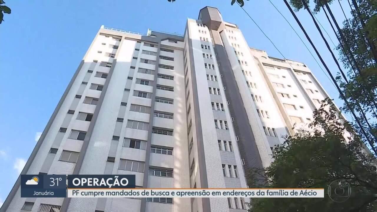 PF faz buscas em endereços ligados à família de Aécio Neves em Belo Horizonte