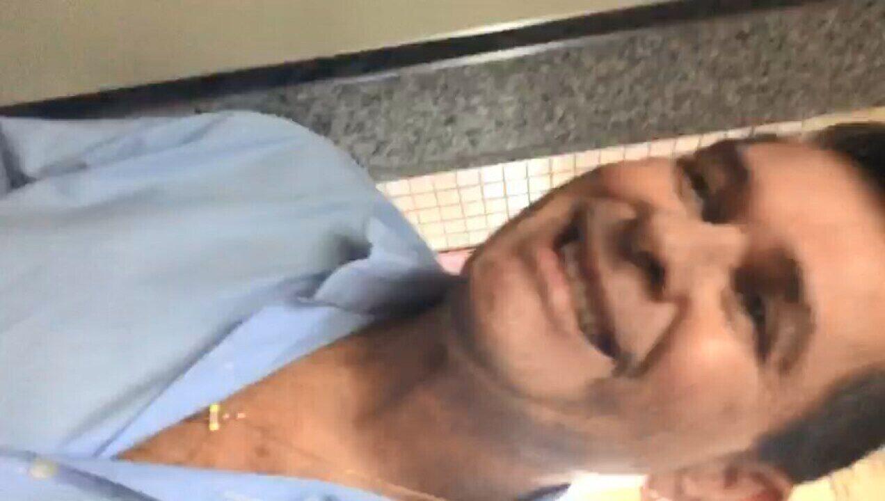 Repórter filmou momento em que começa a discutir com Nildo Ferreira