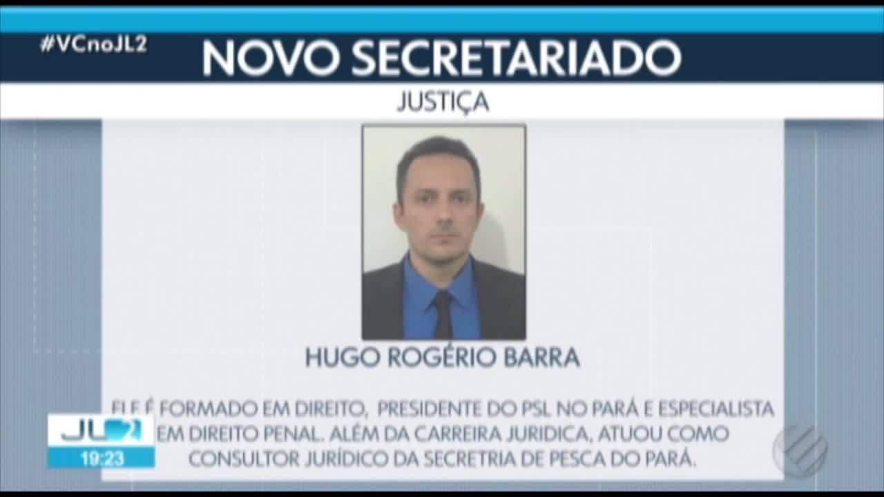 Helder anuncia presidente do PSL no Pará, Hugo Barra, para Secretaria de Justiça