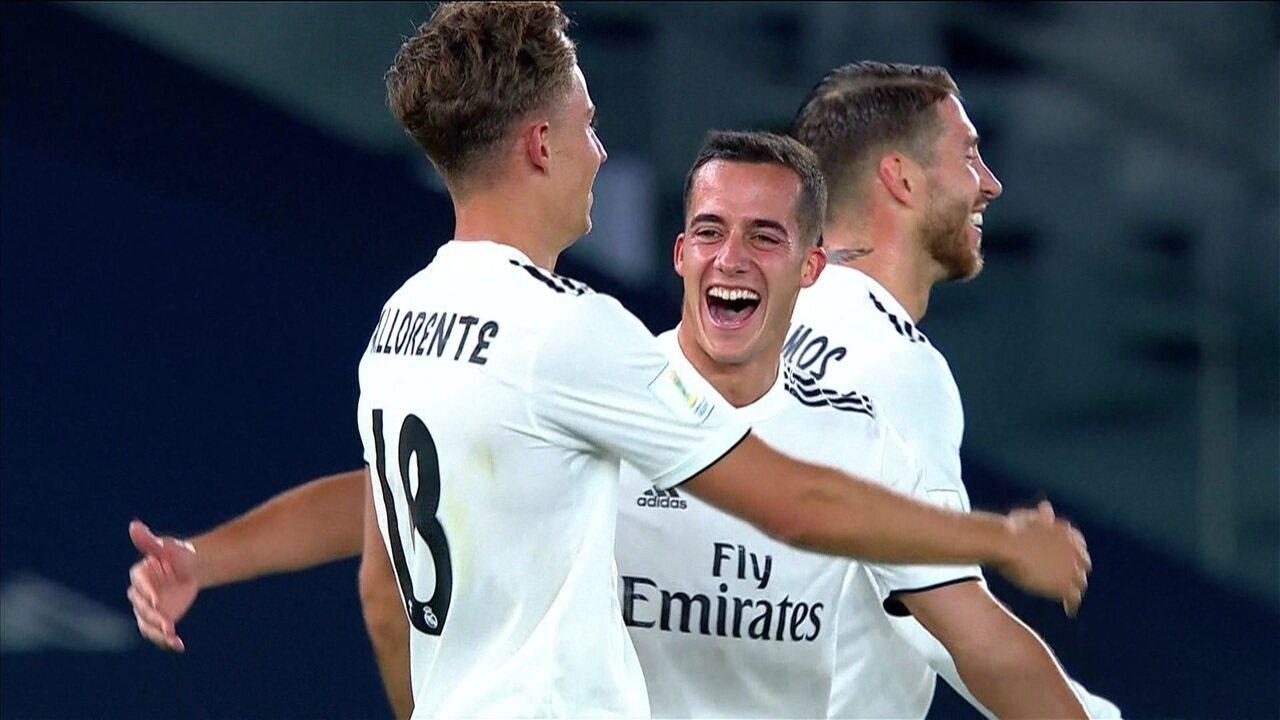 Gol do Real Madrid! Após escanteio d9928595df6a0