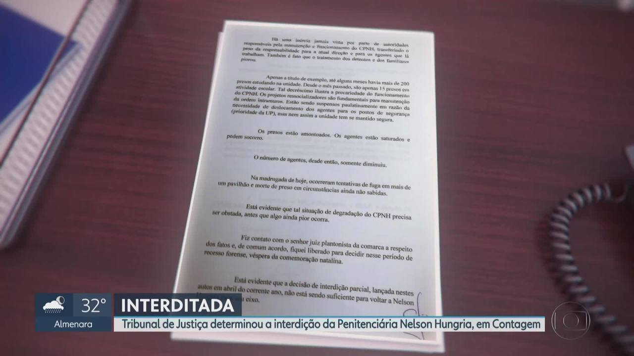Justiça interdita a Penitenciária Nelson Hungria, na Grande BH