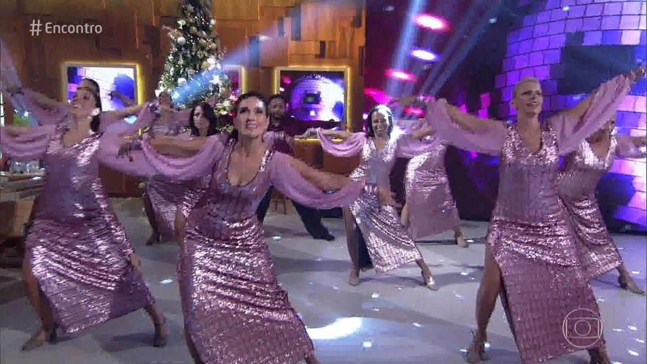 Fátima Bernardes apresenta coreografia de Jazz