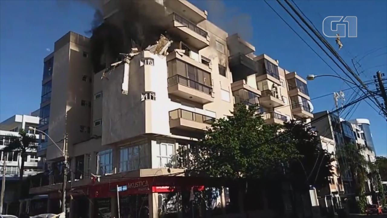 Incêndio atinge prédio de Farroupilha