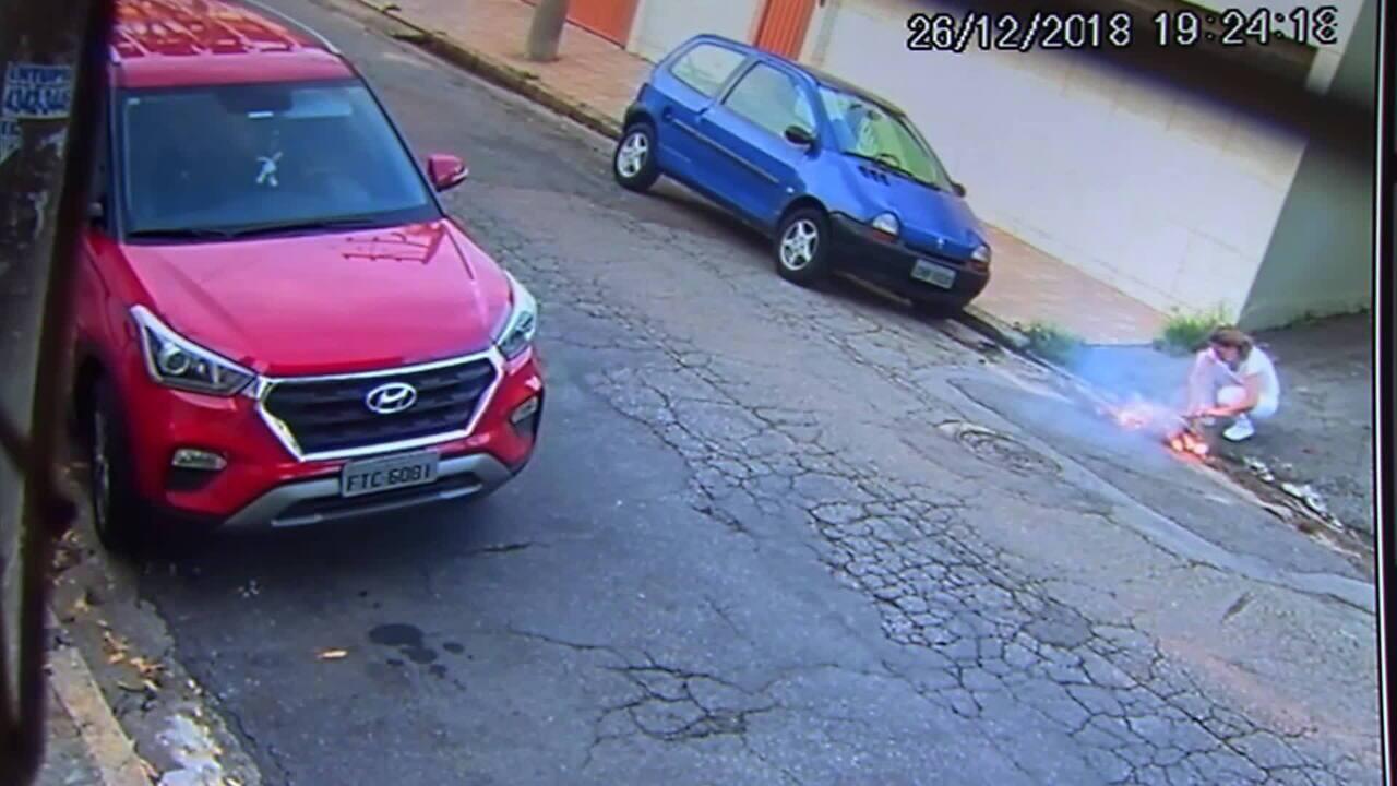 Homem atea fogo a ex-mulher em rua de Santo André