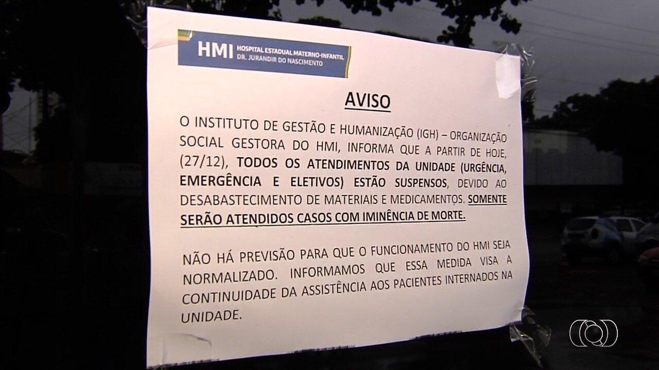 Sem repasses, três hospitais de Goiás deixam de receber novos pacientes