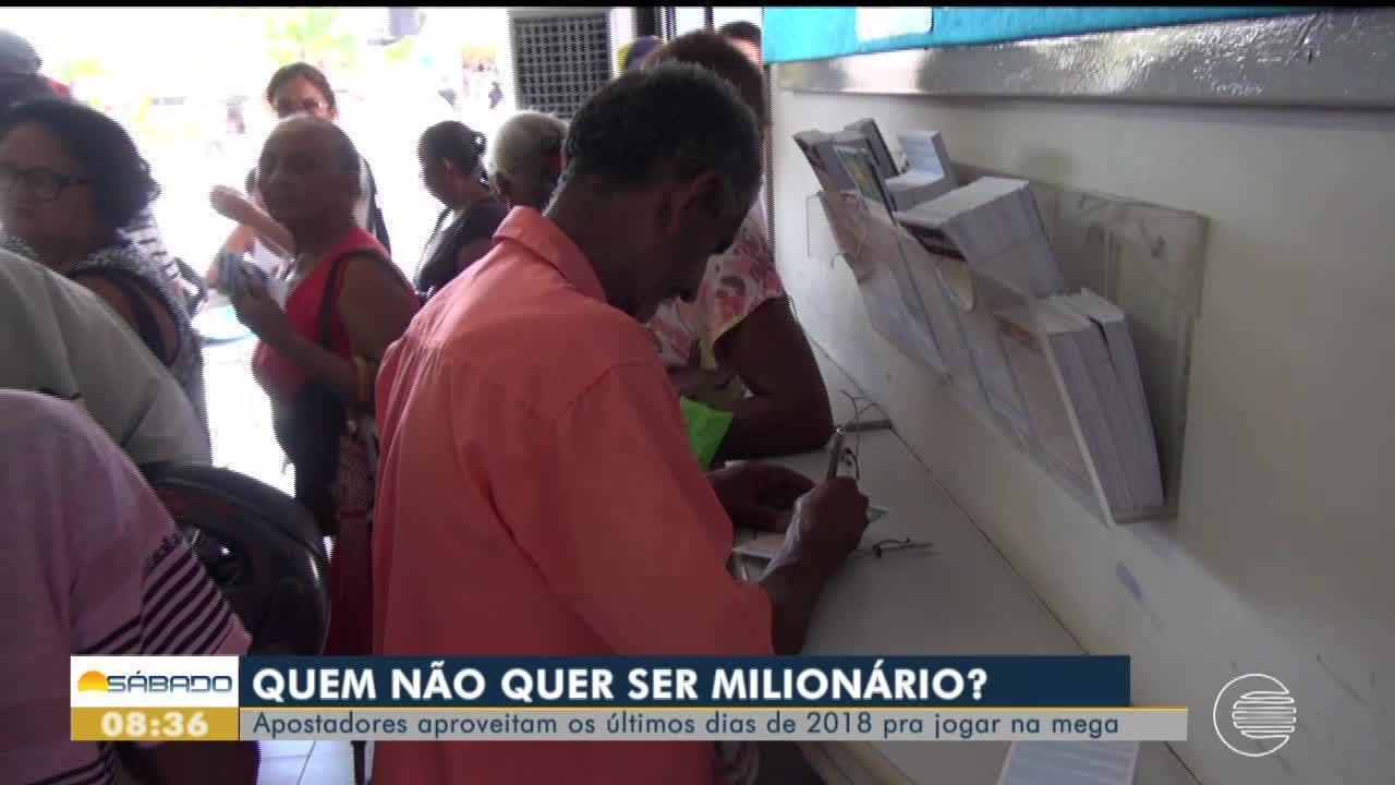 Apostas quadruplicam nas lotéricas para a Mega da Virada