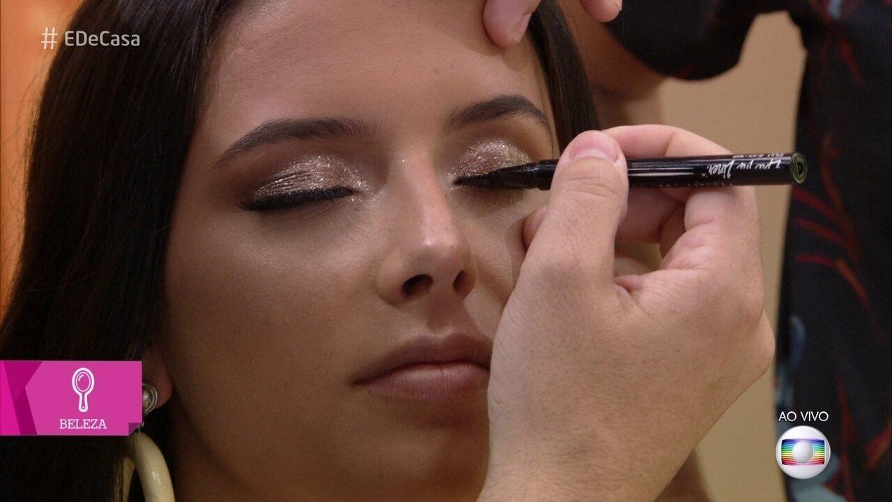 Aprenda a fazer uma maquiagem iluminada para o réveillon