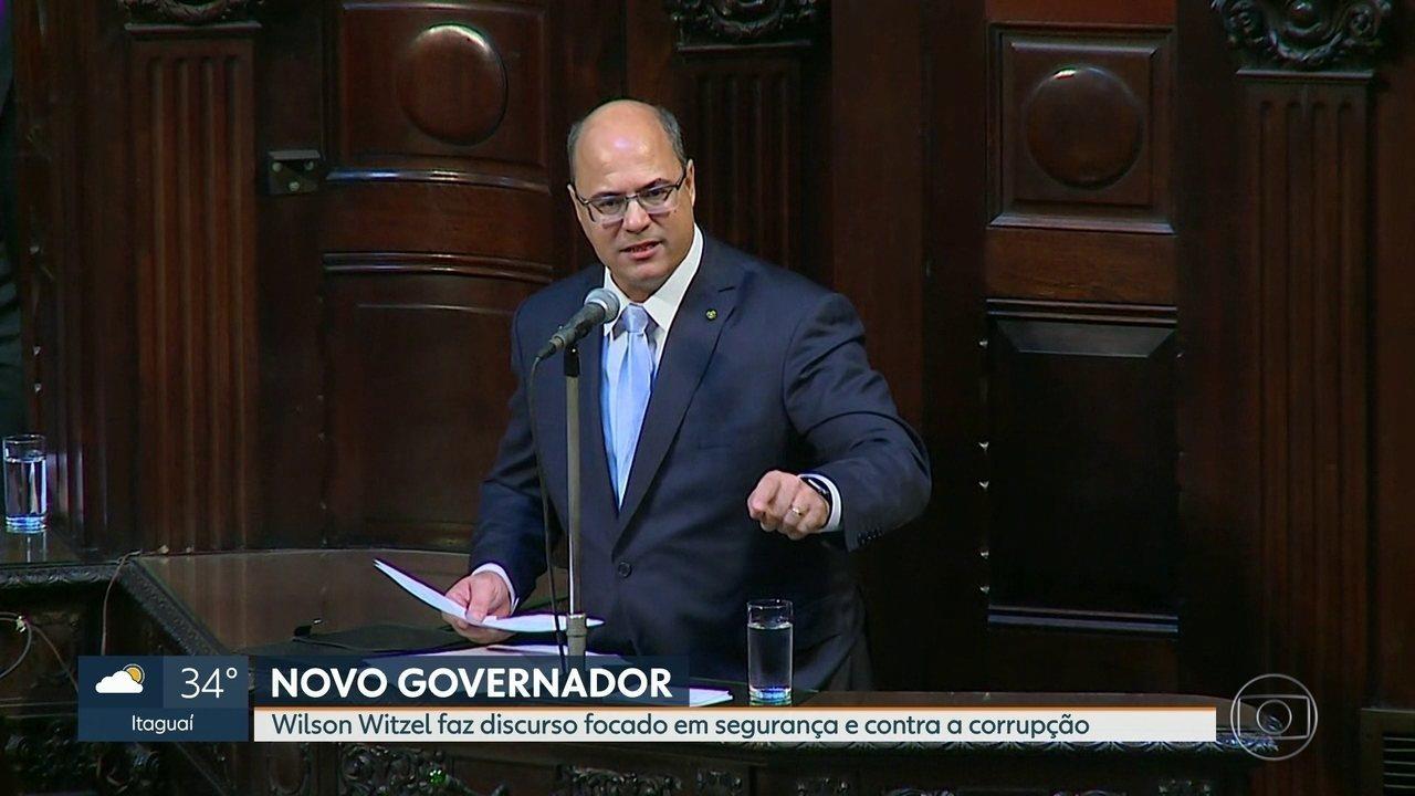 Governador Wilson Witzel toma posse na Assembleia Legislativa do Rio de Janeiro