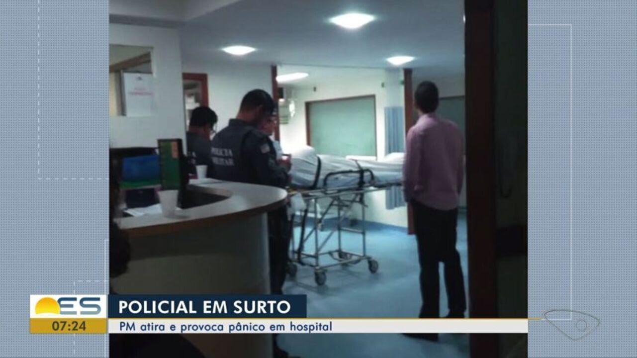 Policial surta e dá tiros dentro de hospital em Vila Velha, no ES