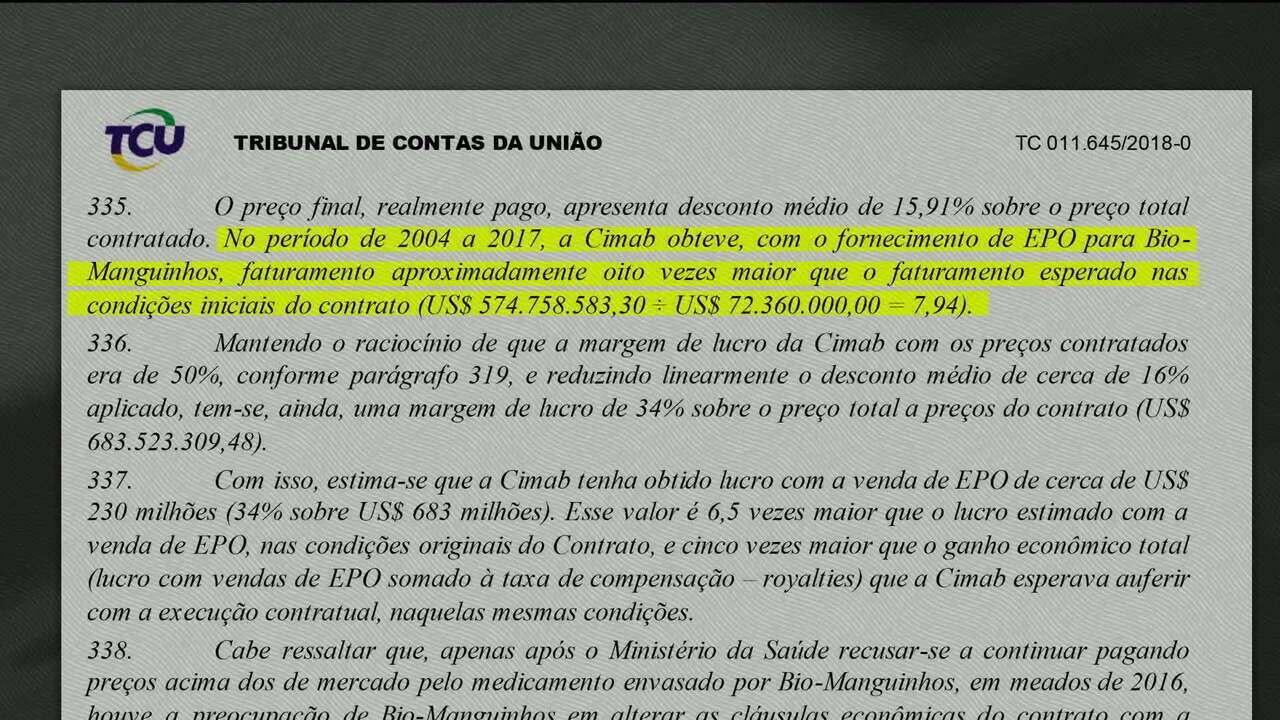 TCU pede explicação sobre contrato entre Bio-Manguinhos e empresa cubana