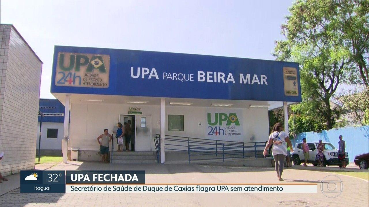 Secretário de Saúde de Duque de Caxias flagra UPA fechada durante a madrugada