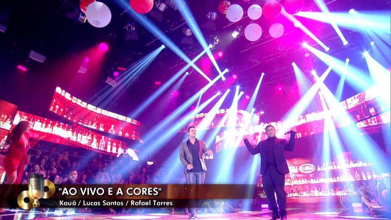 Matheus e Kauan cantam 'Ao Vivo e A Cores' no 'Caldeirão'