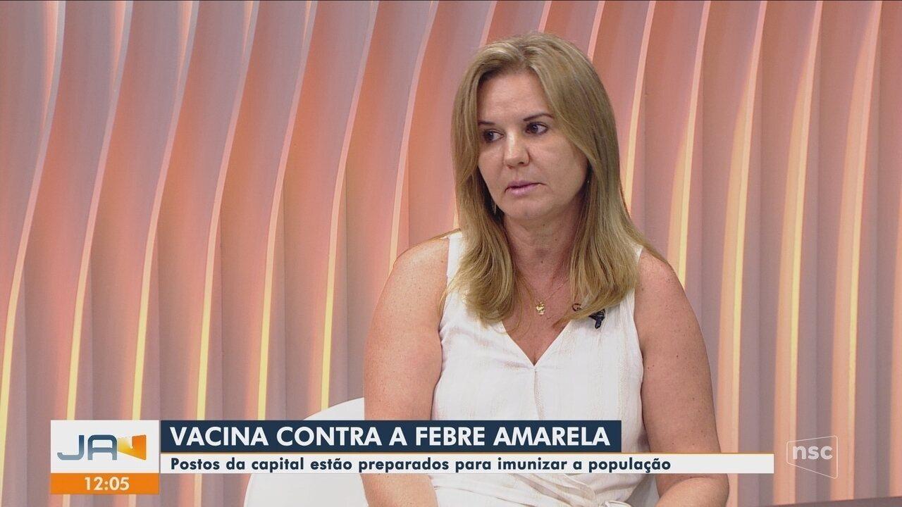 Postos de saúde de Florianópolis realizam vacina conta a febre amarela