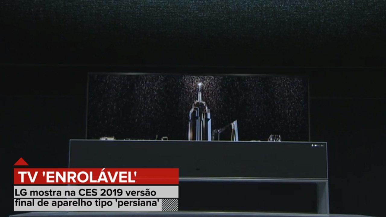 CES 2019 tem TV que se enrola para ocupar menos espaço