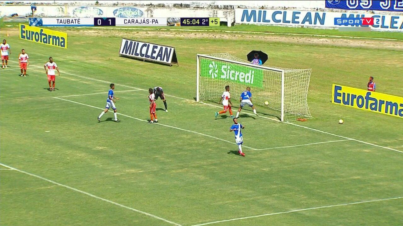 Taubaté e Carajás ficam no empate na Copinha