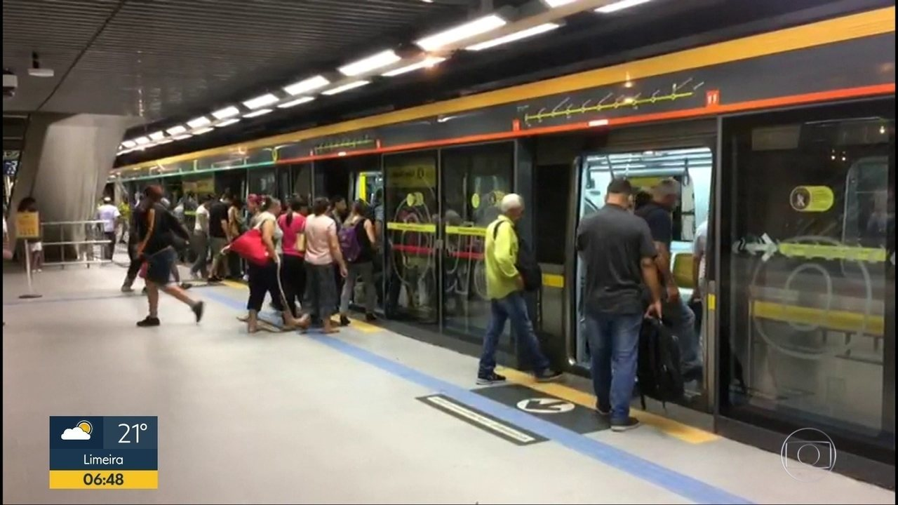 Estações da Linha 4-Amarela são fechadas na manhã desta terç-feira