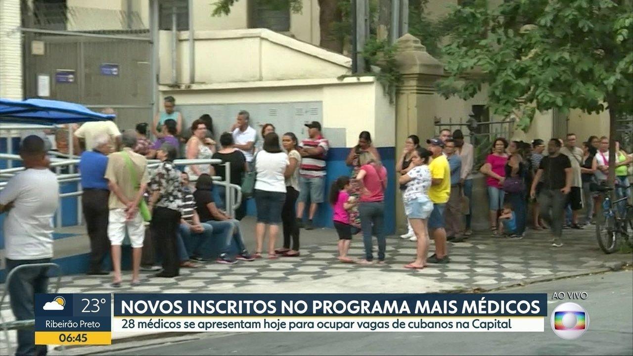 28 profissionais devem se apresentar nesta terça-feira para ocupar vagas do Mais Médicos
