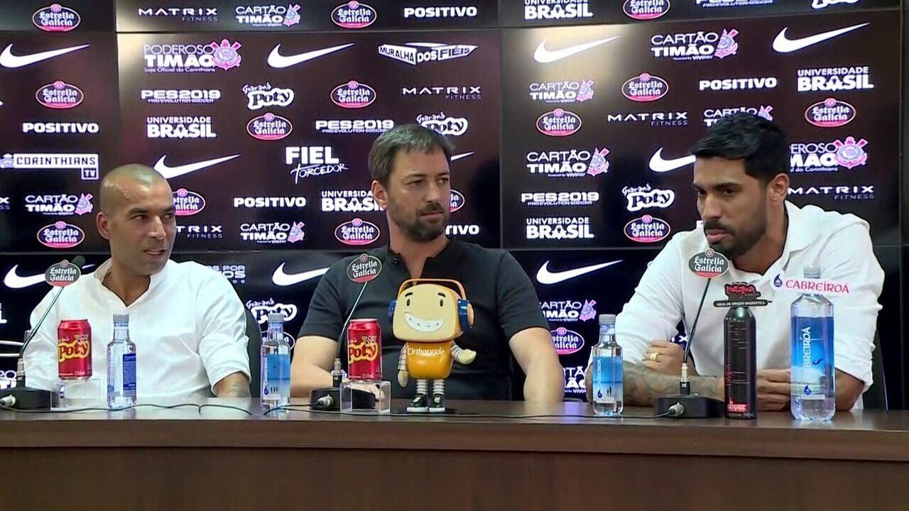 Sheik e Vilson são apresentados como novos diretores do Corinthians